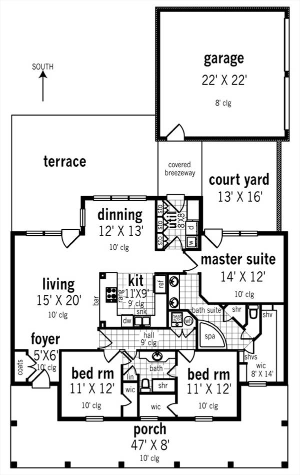 Floor Plan image of St. Martin - 1519 House Plan