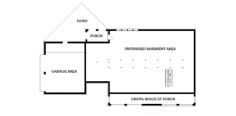 Southern house plan with 3 bedrooms and 2 5 baths plan 3570 for Crawl space foundation cost per square foot