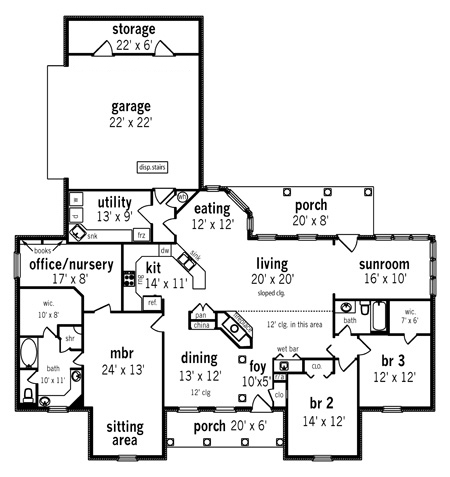 Floor Plan image of Tuscany-2314 House Plan