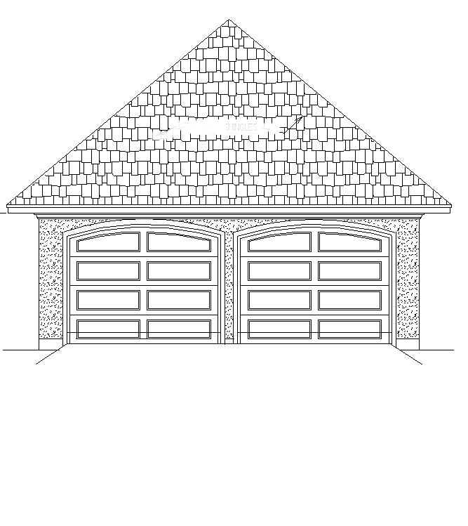 Garage front elevation by DFD House Plans
