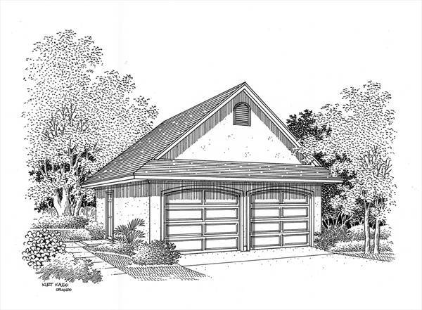 Optional Garage plan elevation