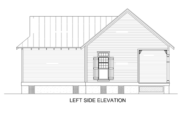 Left side elevation image of Hickory Pass - 500 House Plan