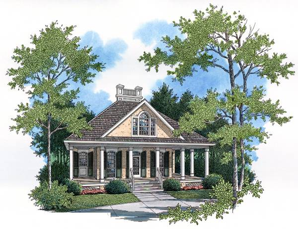 Front Rendering image of Richton-802 House Plan