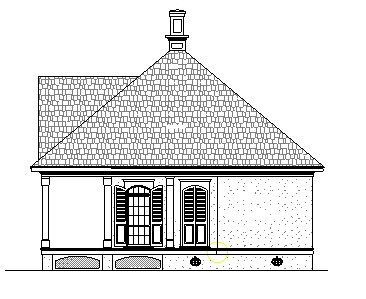 Right Side Elevation image of Richton-802 House Plan