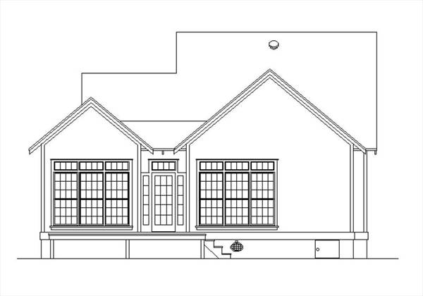 Rear Elevation image of Rutherford house - 908 House Plan