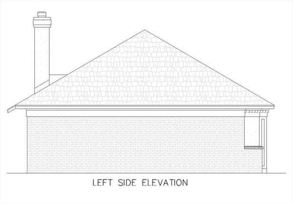 Left Elevation Plan : House fountain hill plan green builder