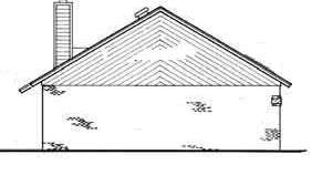 Left side elevation image of Sanderville - 1214 House Plan