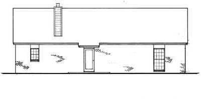 Rear Elevation image of Sanderville - 1214 House Plan