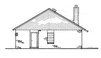Right Side Elevation image of Sanderville - 1214 House Plan