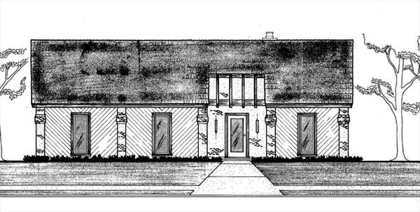 Front Elevation image of Sanderville - 1214 House Plan