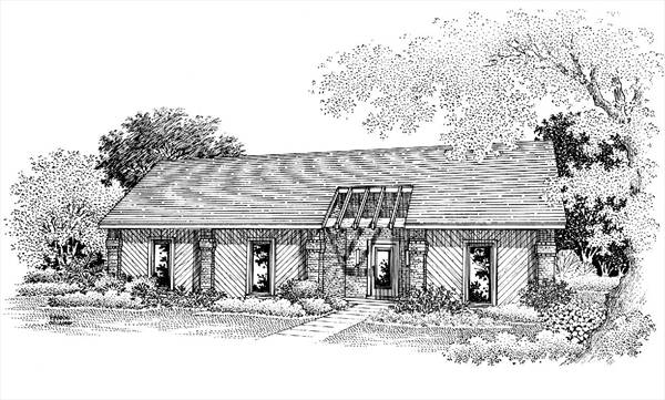 Front Rendering image of Sanderville - 1214 House Plan