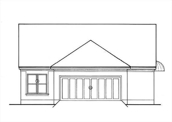 Rear Exterior by DFD House Plans