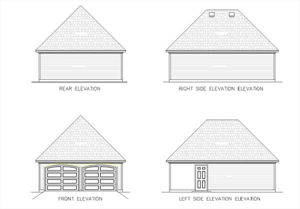 Garage elevations by DFD House Plans
