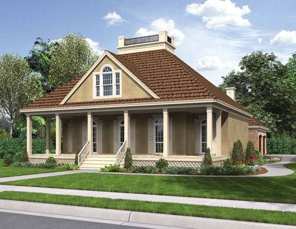 Front Rendering image of St. Martin - 1519 House Plan