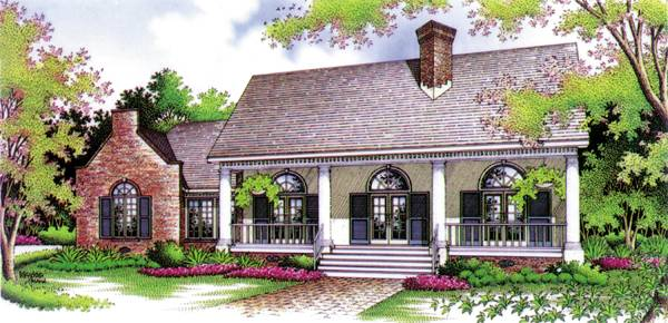 Front Rendering image of Lime House - 1602 House Plan