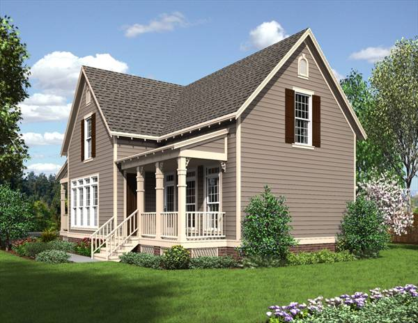 Rear Rendering image of The Jefferson - 1625 House Plan