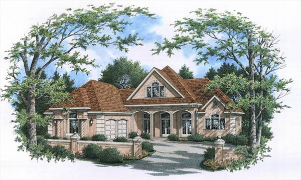 Front Rendering image of CAPE CORAL - 1633 House Plan