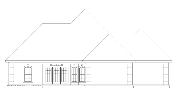 Rear Elevation image of CAPE CORAL - 1633 House Plan