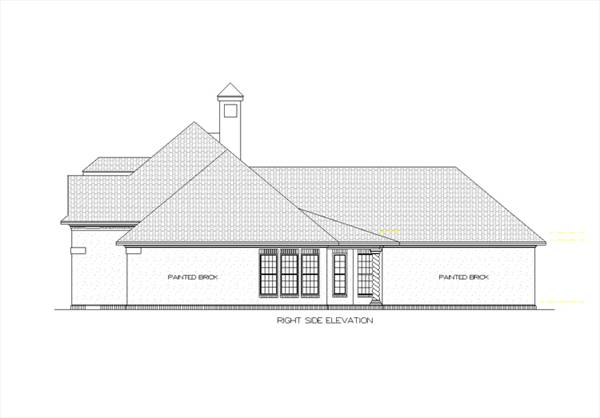 Right Side Elevation image of Tuscany-2314 House Plan