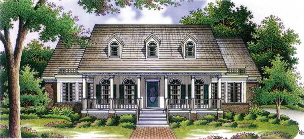 Front Rendering image of Banner Hall-3000 House Plan