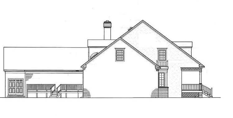 Left side elevation image of Somerset-3104 House Plan
