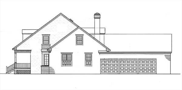 Right Side Elevation image of Somerset-3104 House Plan