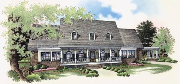 Front Rendering image of Royal Glen-3501 House Plan