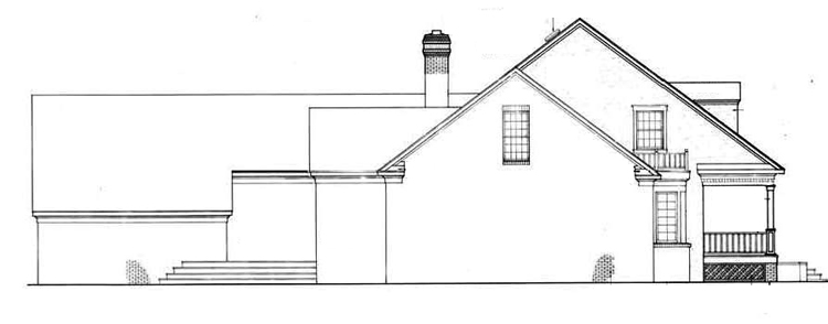 Left side elevation image of Royal Glen-3501 House Plan
