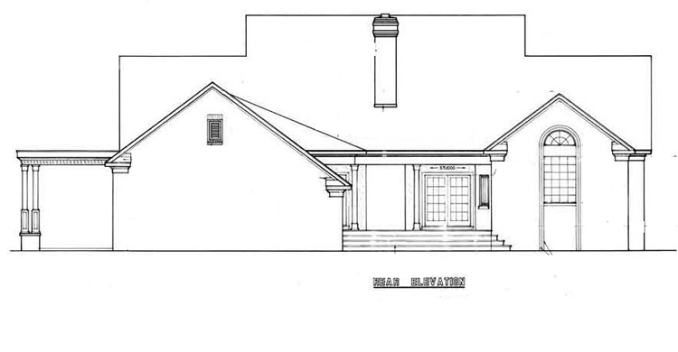 Rear Exterior image of Royal Glen-3501 House Plan
