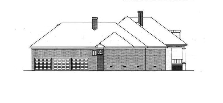 Left side elevation image of Springhill Plantation-4001 House Plan