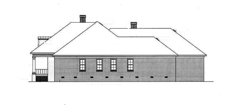 Right Side Elevation image of Springhill Plantation-4001 House Plan