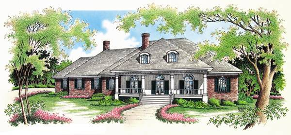 Front Rendering image of Springhill Plantation-4001 House Plan