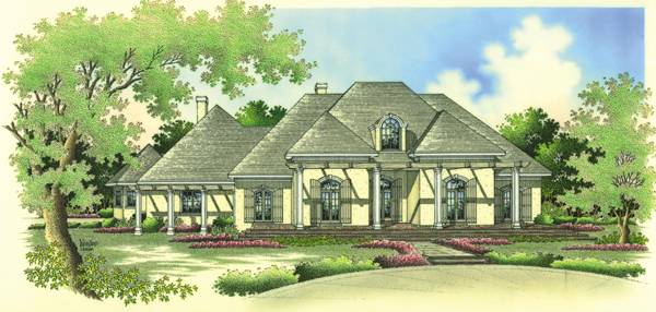 Front Rendering image of Greens common-4004 House Plan