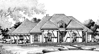 Front Exterior image of Greens common-4004 House Plan