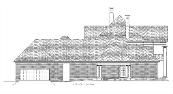 Left side elevation image of Briars-4200 House Plan