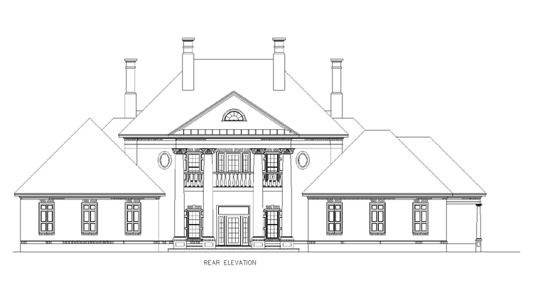 Rear Exterior image of Briars-4200 House Plan