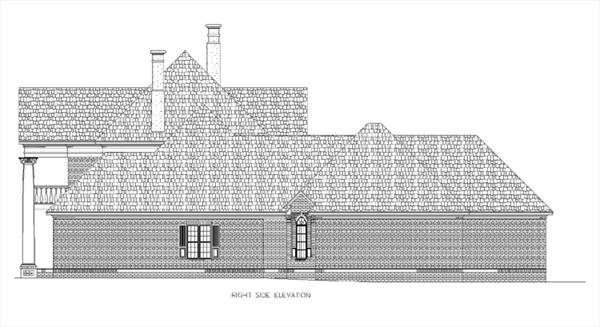 Right Side Elevation image of Briars-4200 House Plan