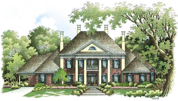 Front Rendering image of Briars-4200 House Plan