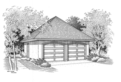 Garage front elevation