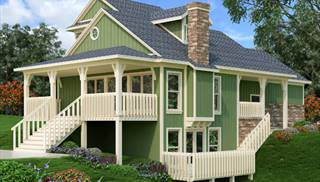 Small Affordable Houses with In-Law Suites by DFD House Plans