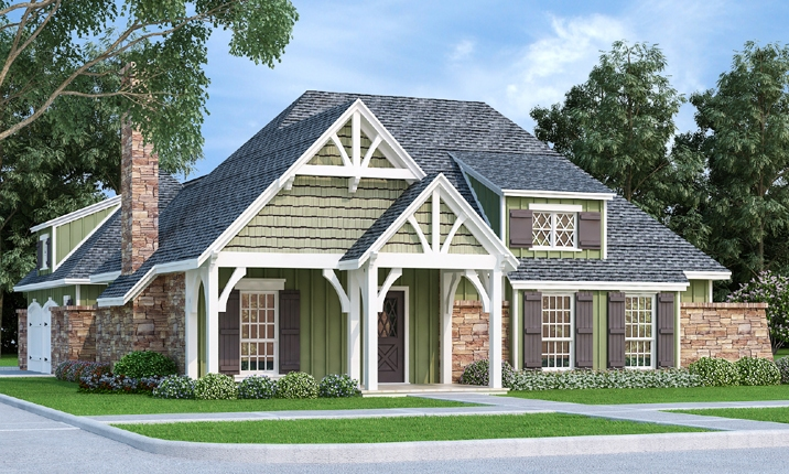 Front Rendering image of Clifton Lane - 1225 House Plan
