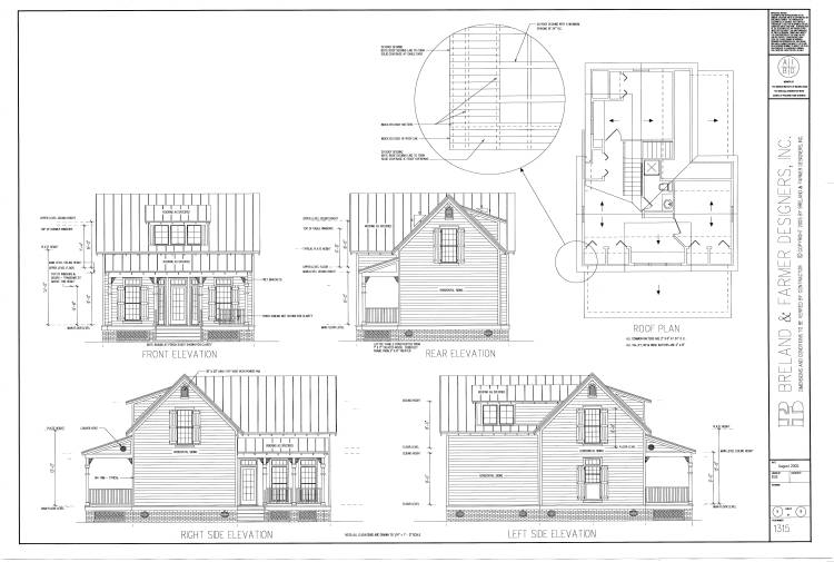 working drawing sheet 5 by DFD House Plans