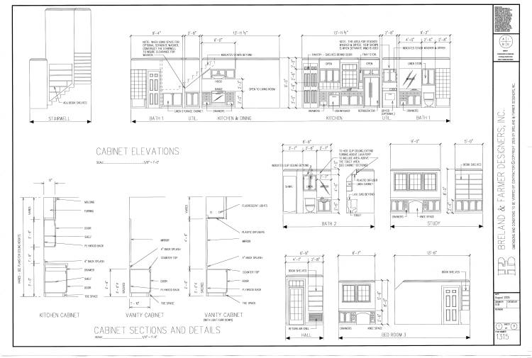 working drawing sheet 7 by DFD House Plans