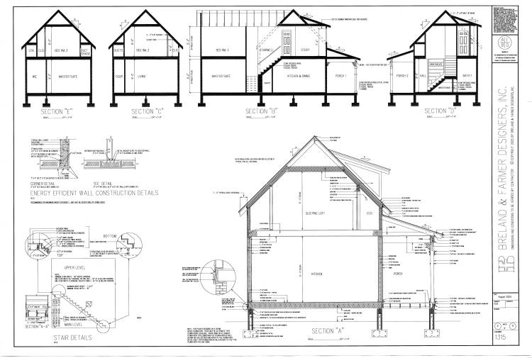 working drawings sheet 6 by DFD House Plans