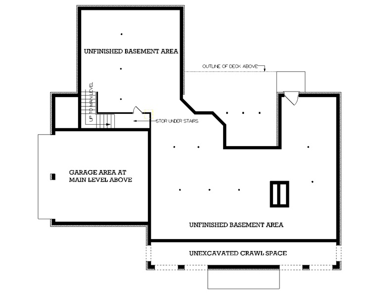 Optional Day Light Basement Foundation by DFD House Plans