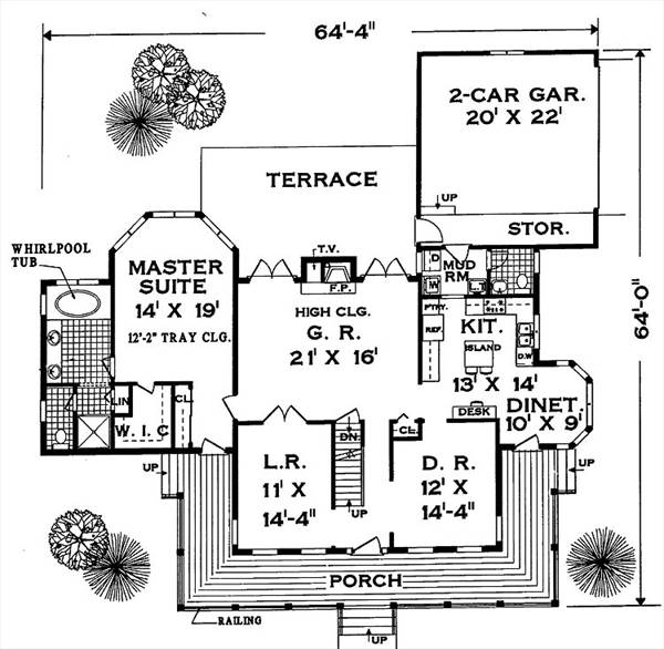 House Great wrap-around PORCH House Plan - Green Builder House Plans