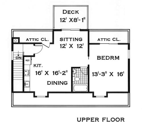 Upper Level by DFD House Plans