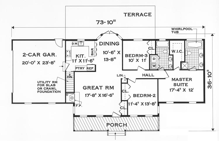 floor plan of a one story house. Wonderful Plan Floor Plan With Plan Of A One Story House