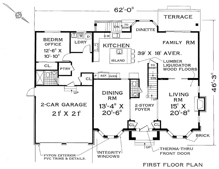Colonial house plan with 7 bedrooms and 4 5 baths plan 4711 for 2 story colonial house plans