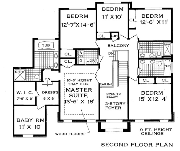 Colonial House Plan with 7 Bedrooms and 4.5 Baths - Plan 4711 on colonial houses with dormers, colonial houses with shutters, colonial house with 3 car garage, colonial house with painted brick,